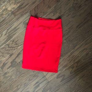 Beautiful LLR Red Cassie Pencil Skirt Sz M EUC